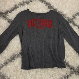 Gray fuzzy Victoria's Secret sweater